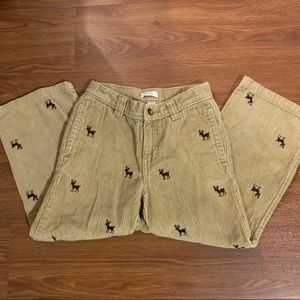 Greendog boys size 5 corduroy pants w/deer print